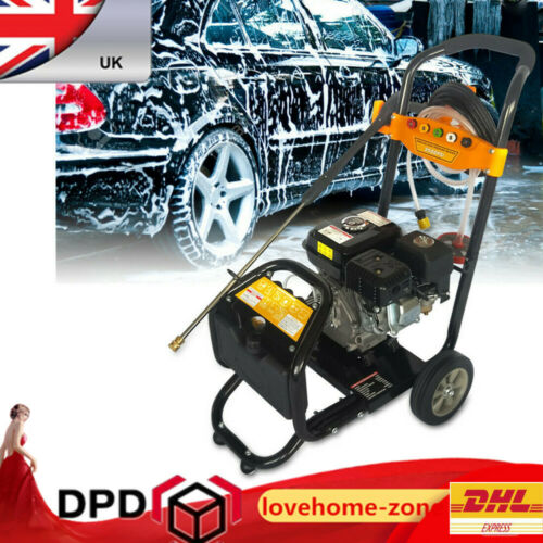 Petrol Power Pressure Jet Washer 170 BAR 7.5HP Engine With Gun Hose nozzles OHV