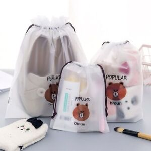 76f396a38fb341 Cute Bear Transparent Cosmetic Bag Travel Makeup Case Bath Organizer ...