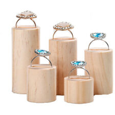 5 Pieces Wooden Ring Jewelry Display Stand Holder Organizer For Wedding Shop