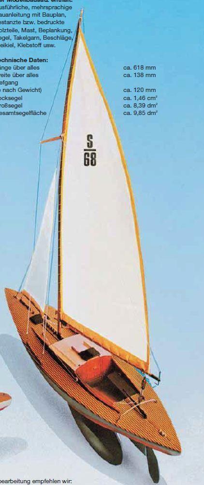 PINGUINO Vela Yacht KIT Aeronaut Aero-Naut NAVE BARCA RC neu&ovp