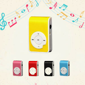 Mini-Clip-USB-MP3-Player-Plastic-Supports-Micro-32GB-SD-TF-Karte-Sports-Stil