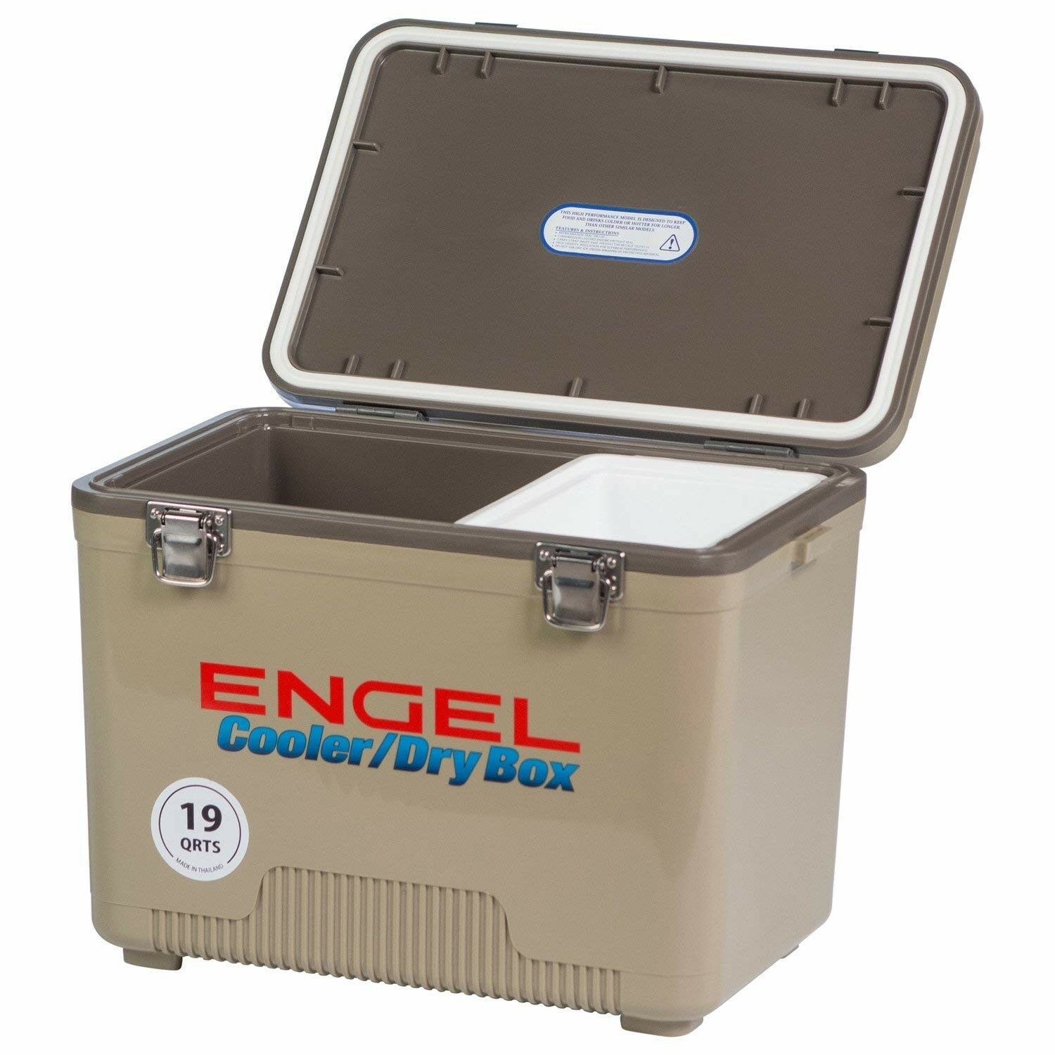 Engel Sturdy Cooler Dry Box - Excellent Lunch Box w  Secure Latches (19 Quart)