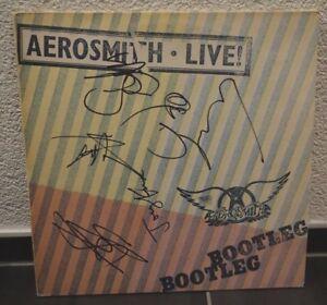 AEROSMITH-034-Bootleg-034-LP-Vinyl-NEU-original-signiert-IN-PERSON-Autogramm-signed