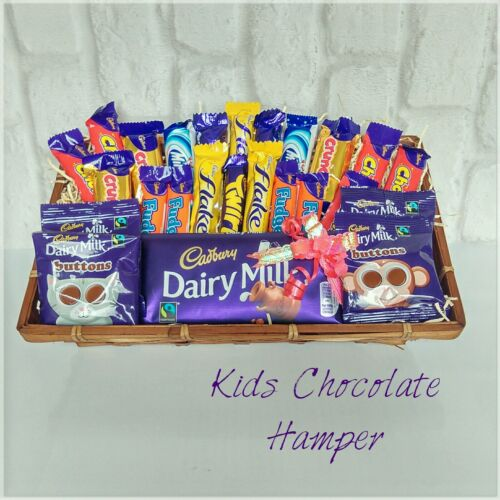 Chocolate hamper dairy milk mini bar selection birthday gift basket