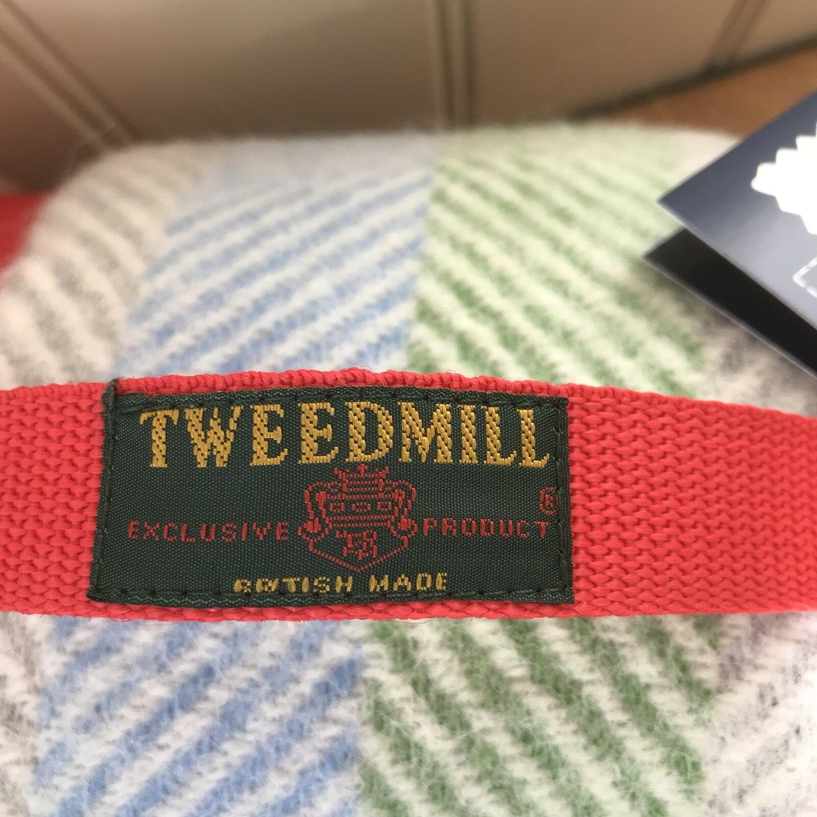 Tweedmill Polo Picnic Tapis Avec Avec Tapis Imperméable Support Arc en ciel à rayures 7fbc06