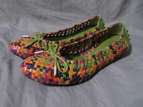 Taglia Donna Intreccio 41 8 Pelle en Multicolore Pons Pilar Basse Quintana wqw0SO
