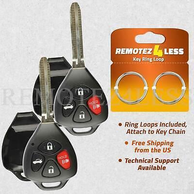 Shell Case For 2009 2010 2011 2012 2013 Toyota Corolla Keyless Remote Key Fob