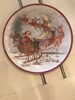 HTF Pottery Barn Kids Rudolph Reindeer Plate Dessert Melamine Cookies for Santa