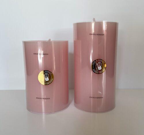 Engels Kerzen Stumpen Kerze gegossen//durchgefärbt 80//150 col.415 RosenquarzNEU