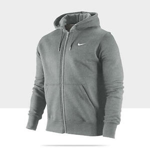 6bd722786cc2 Nike Men s SptCas Classic Grey   Red Fleece Jacket Hoodie 404512 M ...