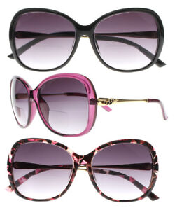 6dbb1f18db4 Image is loading 2-Colors-Women-Flower-Oversize-Bifocal-Sunglasses-Reader-