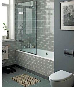 new york warm grey flat subway metro gloss bathroom