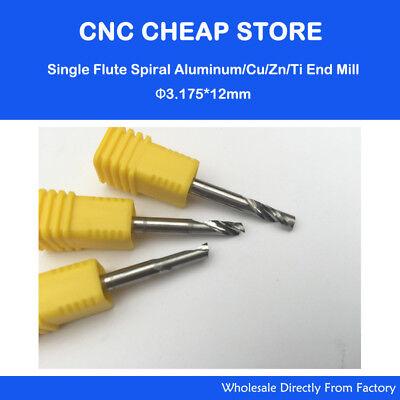"""5pc Aluminum End Milling Single Flute CNC Router Cutting Bit 1//8/"""" 3.175mm 12mm"""