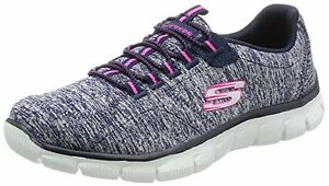 New 12404 Skechers Sport Women's Heart To Heart Fashion Sneaker Navy/Hot Pink