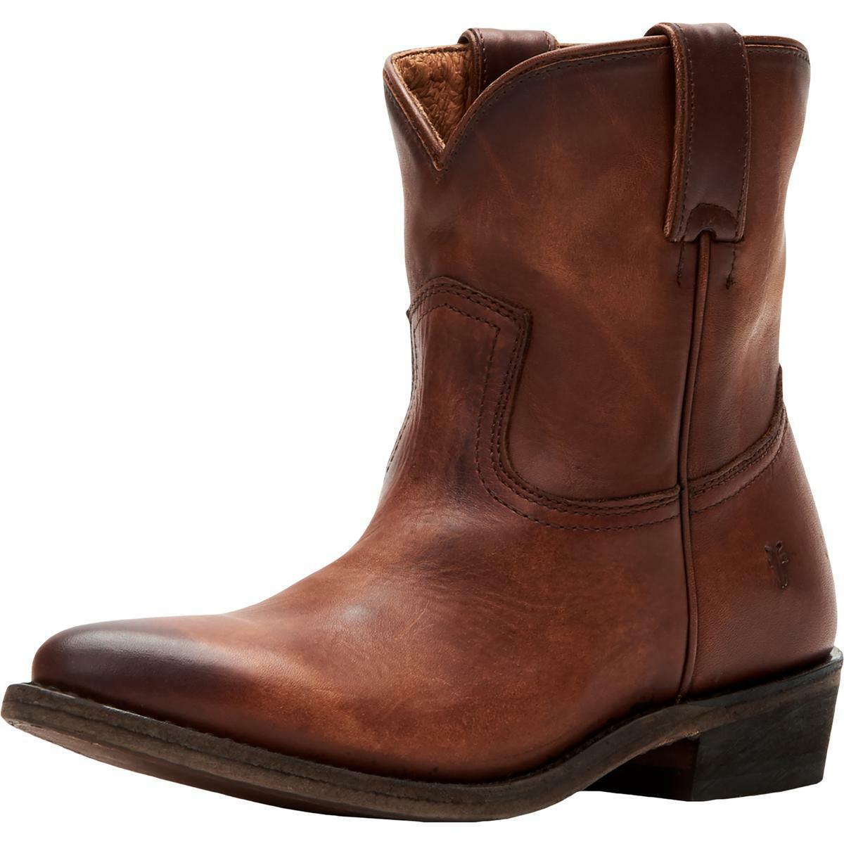 Frye Womens Billy Short Brown Cowboy, Western Boots 6.5 Medium (B,M) BHFO 8564