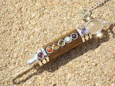 Tigers eye/quartz faceted chakra wand healing dowsing pendulum 3 mm cabochons