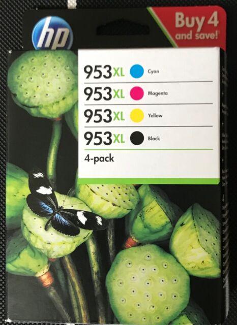 BRAND NEW & SEALED Genuine HP 953XL Black/Cyan/Magenta/Yellow Ink Cartridges