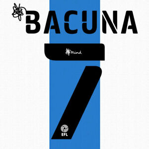 2020 2021 OFFICIAL HUDDERSFIELD TOWN HOME NAME SET BACUNA 7 = PLAYER SIZE