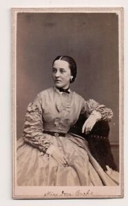 Vintage-CDV-Ione-Burke-Victorian-Actress-Fredrick-039-s-Photo
