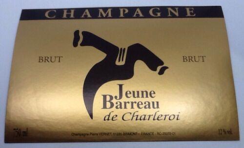 VERNET P AVOCAT JEUNE BARREAU DE CHARLEROI ÉTIQUETTE CHAMPAGNE #9034 MÉTIER