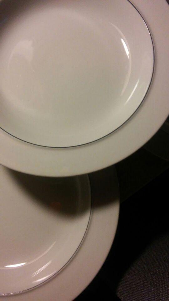 Fajance, Dybe tallerkener, Blåkant