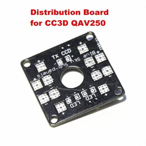 CC3D Qav 250 PCB Quadrocopter Anschlussplatine Stromverteiler 2 x LED schalter