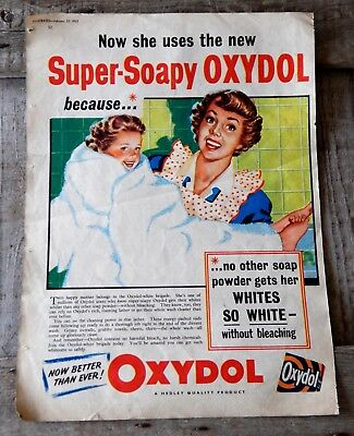 Original Vintage Colour 1950s Magazine Advert - Oxydol Washing Powder | eBay