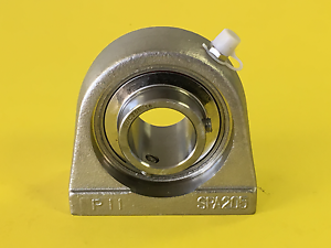 """1-1//8/"""" Stainless Steel Tapped Base Bearing SUCSPA206-18 Premium SUCSTB206-18"""