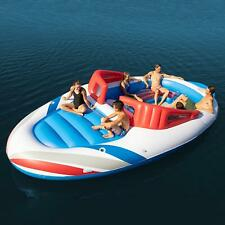 NEW GIANT HUGE INFLATABLE BOAT SPEEDBOAT PARTY FLOATING ISLAND LAKE RIVER RAFT