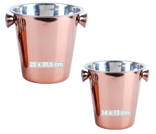 Large Rose Gold Stainless Steel Champagne Party Wine Beer Ice Cooler Bucket NEW