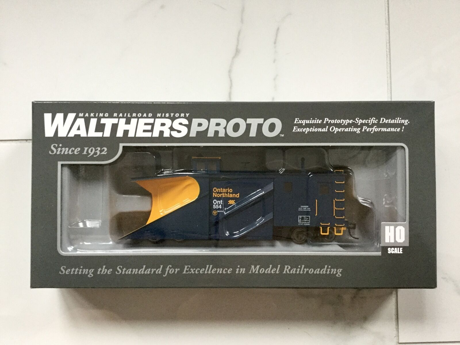 WALTHERS PROTO 1/87 HO ONTARIO NORTHLAND RUSSELL SNOW PLOW ITEM   920-110022 FS