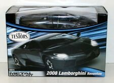 650016 Testors Black Lamborghini Reventon 2008 1:24 Diecast Metal Model Kit Box