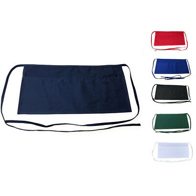 3 Pack Kitchen Waist Aprons With 3 Pockets Barista Waiter Chef Restaurant Home