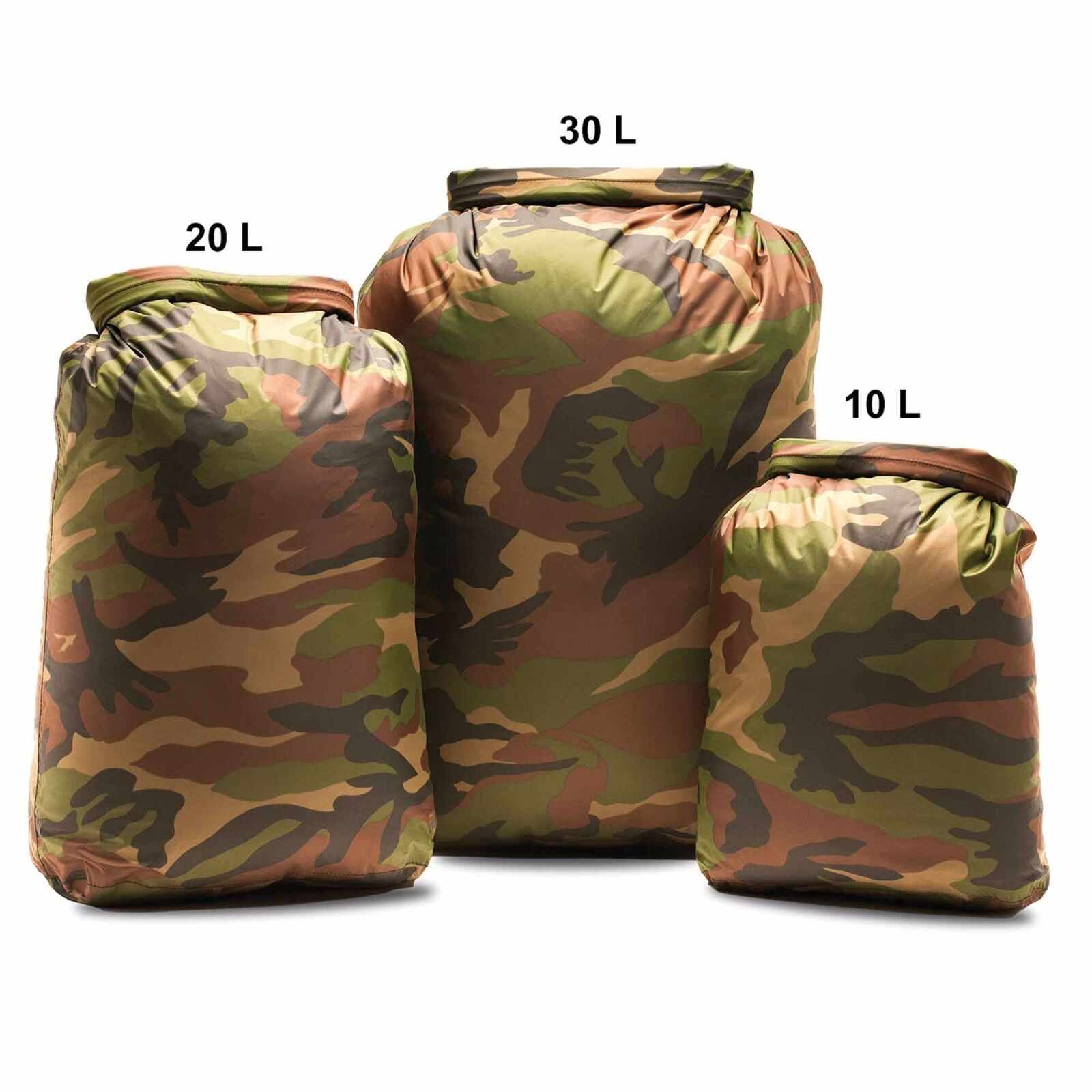 Aqua Quest Rogue Waterproof Dry Bag 10L, 20L, 30L, - Camo or Olive