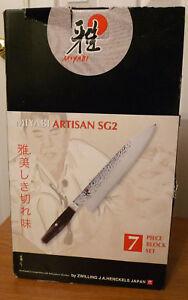 Zwilling Miyabi Artisan Sg2 7pc Knife Block Set Ebay