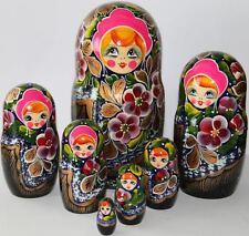 Matrioska russa 7 pezzi matriosche babooshka matriosca bambole russe di legno