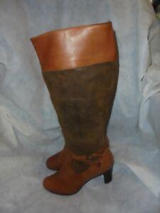9b Lauren Brown Uk 39 Vgc Size 6 Us Zip Leather Boot Women's Knee High Eu Ralph STwx6q6