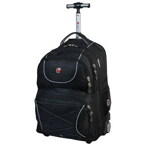 Swiss-Gear-Wenger-20-034-Wheeled-Laptop-Travel-Backpack-Black