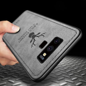 For-Samsung-Galaxy-Note-9-S8-S9-Hybrid-Soft-TPU-Leather-Case-Shockproof-Cover