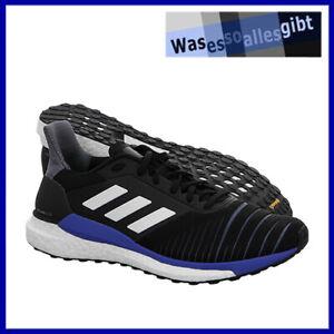 SCHNAPPCHEN-adidas-Solar-Glide-Boost-schwarz-blau-Gr-41-1-3-R-8404