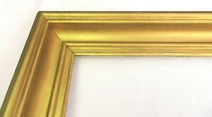"ANTIQUE FITS 14"" x 20"" GOLD GILT WOOD PICTURE FRAME PRIMITIVE FINE ART VICTORIAN"