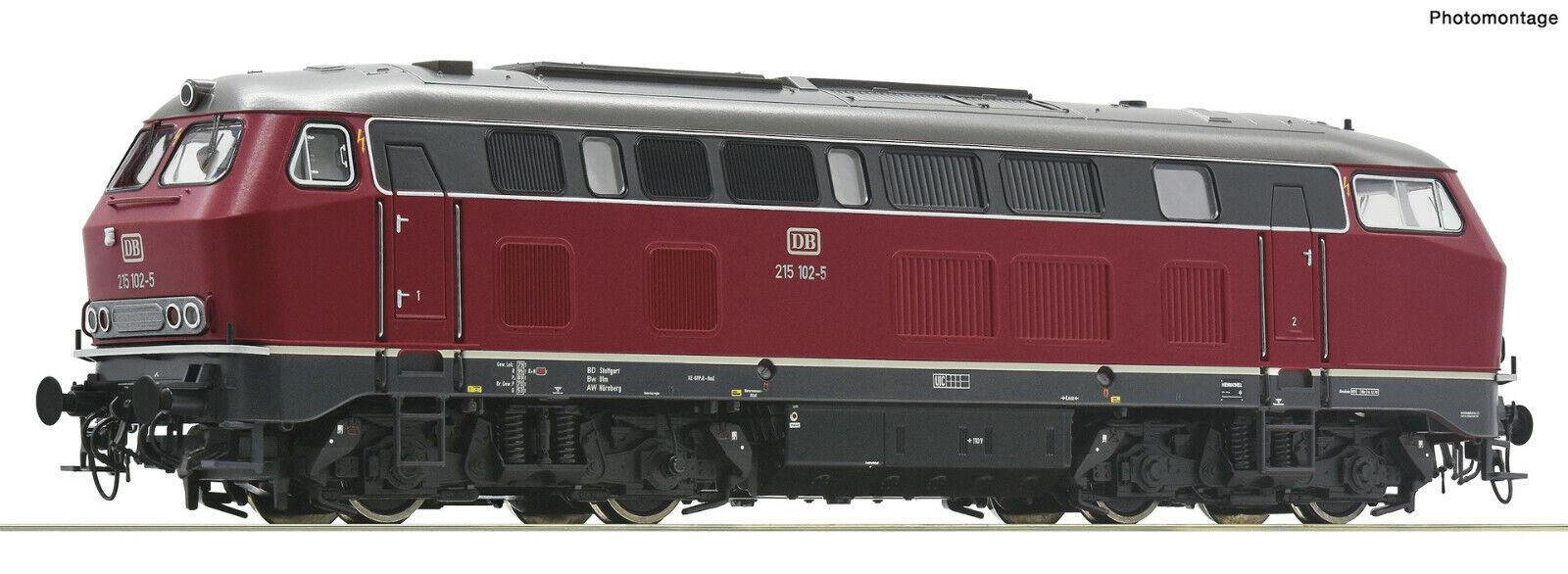 """Roco H0 70752 Diesellok BR 215 der DB /""""Digital OVP Neuheit 2020/"""" NEU Sound"""