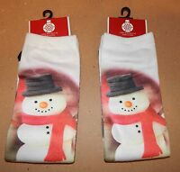 Christmas Socks Ladies Size Shopko 9 To 11 2pr Snowman 30c