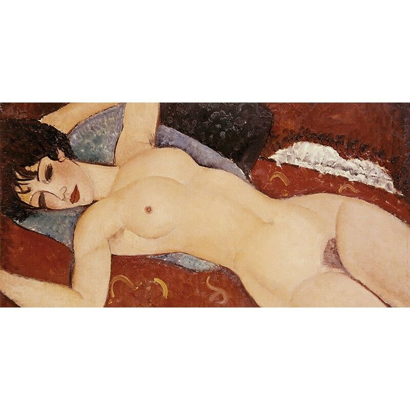 Quadro su Pannello in Nude Legno MDF Amedeo Modigliani Reclining Nude in (detail) dec45a