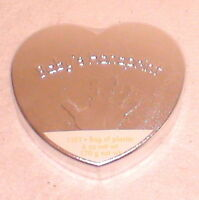 Nip Sealed Baby Plaster Handprint Kit Heart Shaped Box 6 High X 6.25 Wide