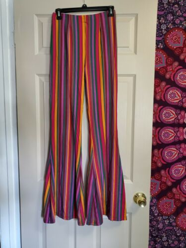 Free People Stretch Pants Huge Bell Bottoms 70s Lo