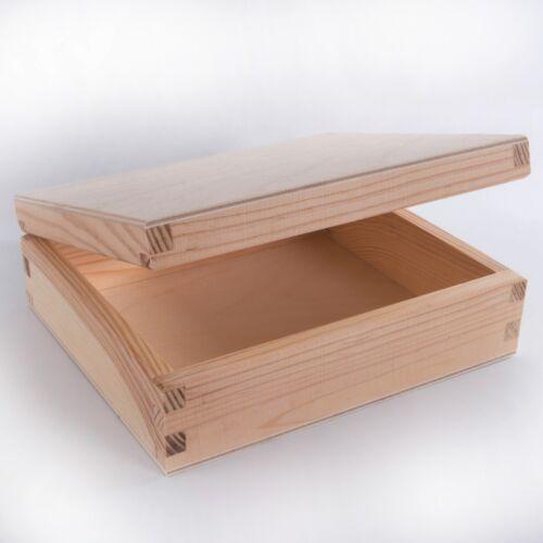 1//2//3x en bois Plain CD Box Case Holder//Bois Non Peinte Boîtes de rangement pour craft