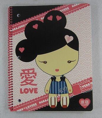 """Harajuku Lovers Spiral Notebook Gwen Stefani 8""""x10.5"""" 70 Sheets NEW NWT"""