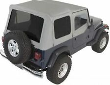 Rampage Complete Soft Top With Frame Amp Tint Fits 87 95 Jeep Wrangler Yj 68211 Gray Fits 1994 Jeep Wrangler