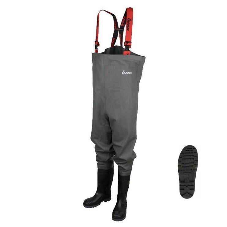 IMAX NAUTIC Fishing Chest Waterproof  Waders Cleated Sole (Fly Fishing  fishing)  not to be missed!